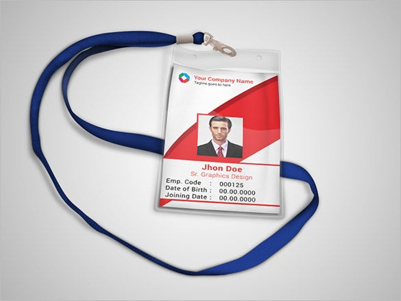 corporate official psd id card template