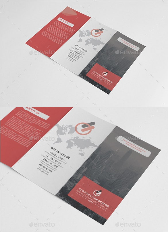 corporate tri fold brochure design