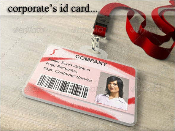 corporates id card psd template