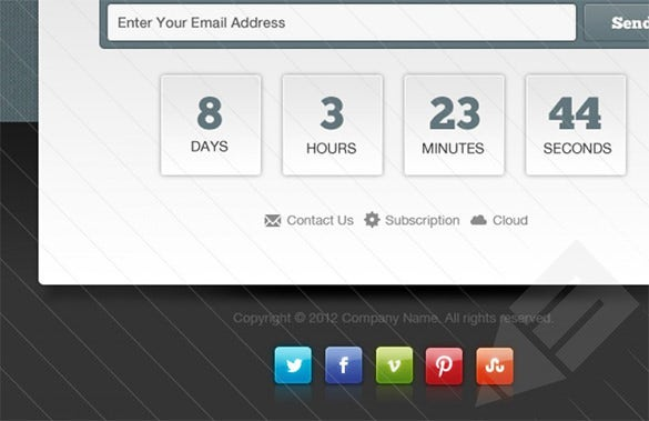 countdown launching soon email template