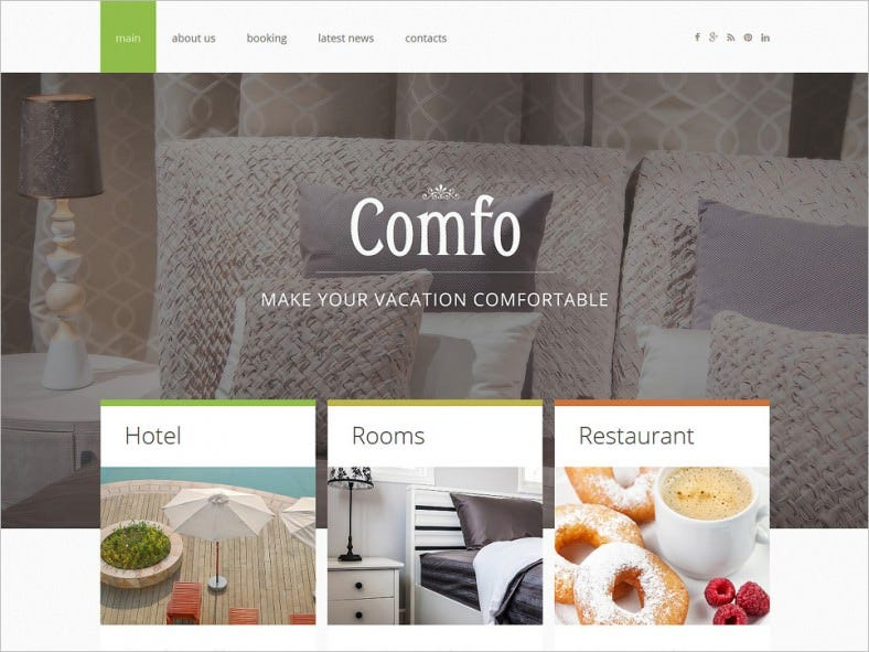 cozy vacation joomla template 788x591