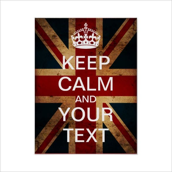 create your own keep calm poster template