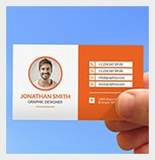creative corporate contact card