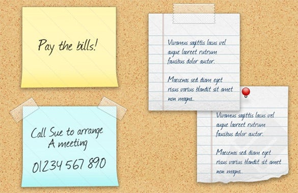 creative stickie notes memo