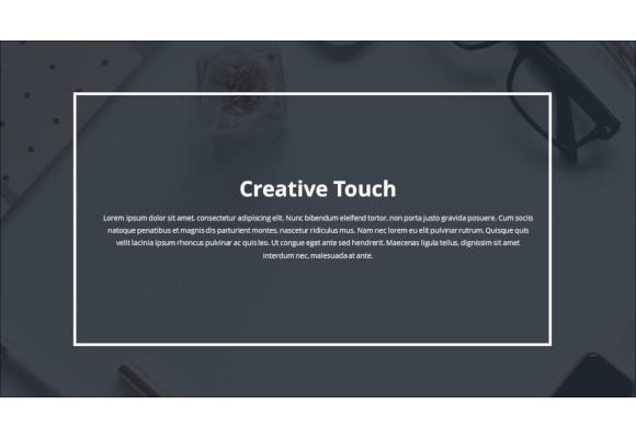 creative touch minimal powerpoint presentation