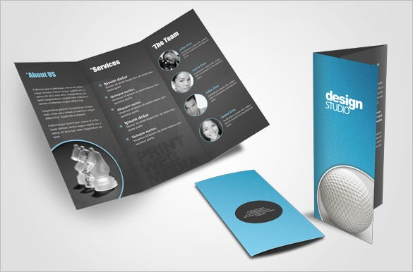 creative tri fold brochure design layout for agency