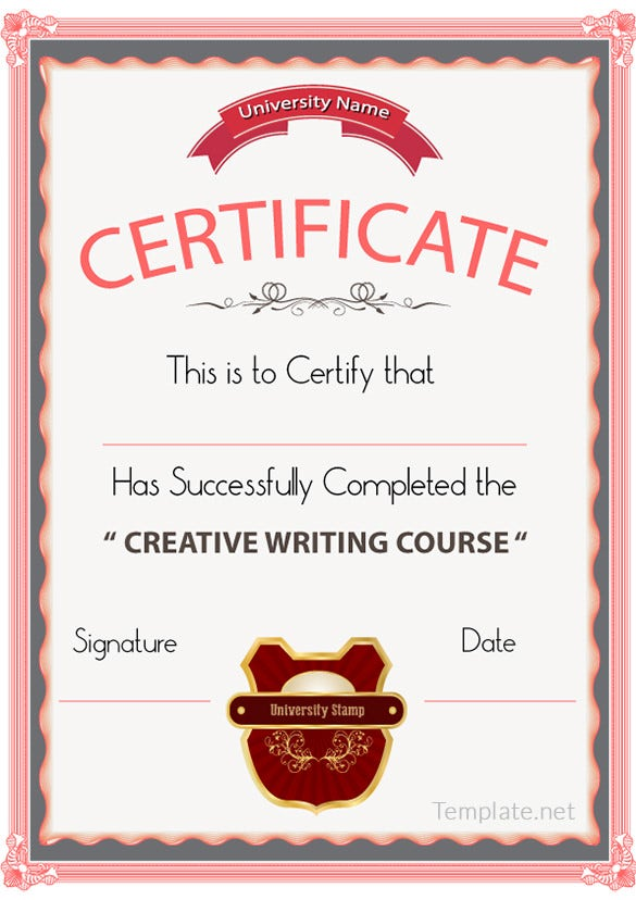 calligraphy certificate templates - free certificate template 65 adobe illustrator