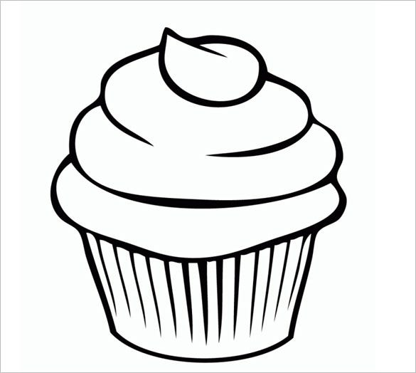 cupcake drawing template
