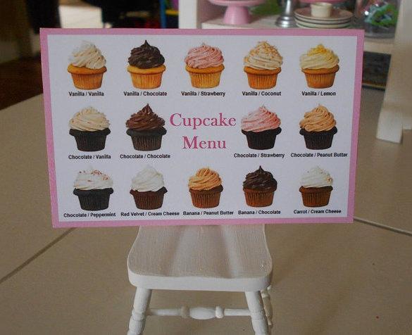 cupcake menu template 15