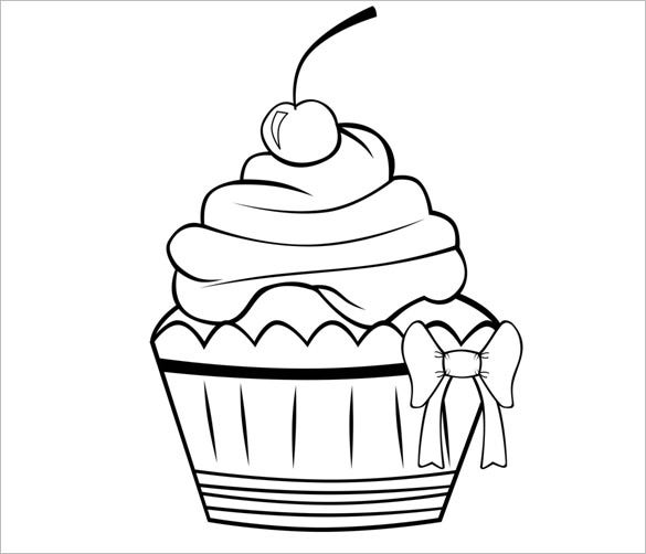 Cupcake Template To Colour