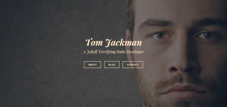 Custom Fullscreen Homepage Personal Jekyll Blog Template