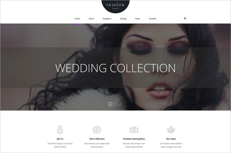 custom pages fashion joomla template 788x523