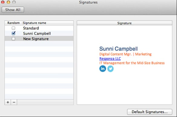 customized e mail signature outlook