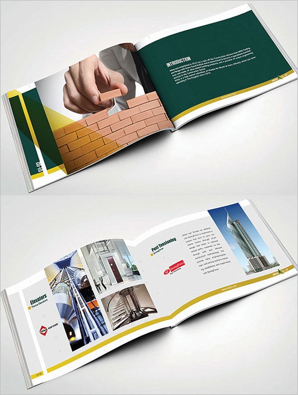 17 top construction company brochure templates free for Construction brochure design pdf