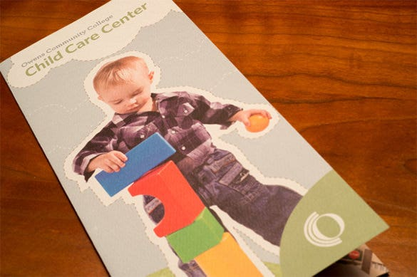 cute child care brochure template
