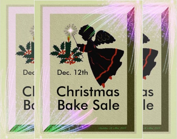 cute flyer template for bake sale