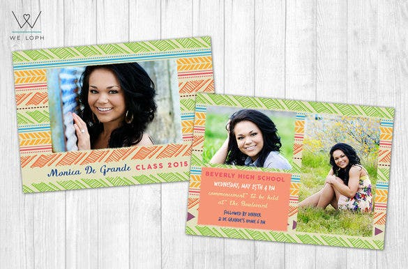 cute psd graduation announcement template 6