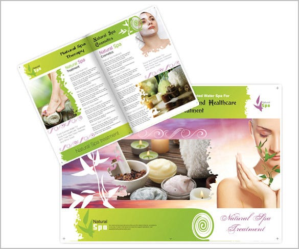 cute spa brochure template