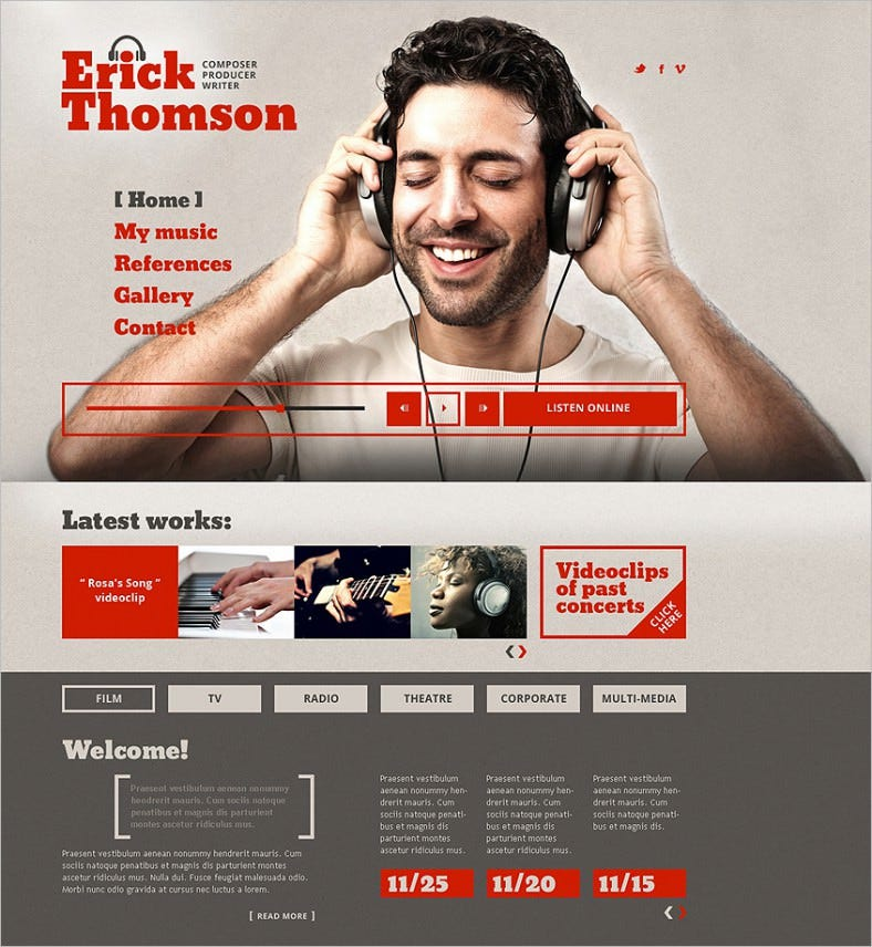 dj responsive website template 2 788x856