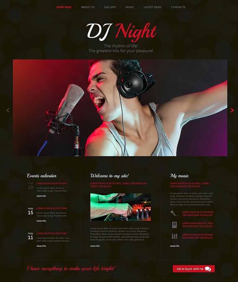 dj superstar website template