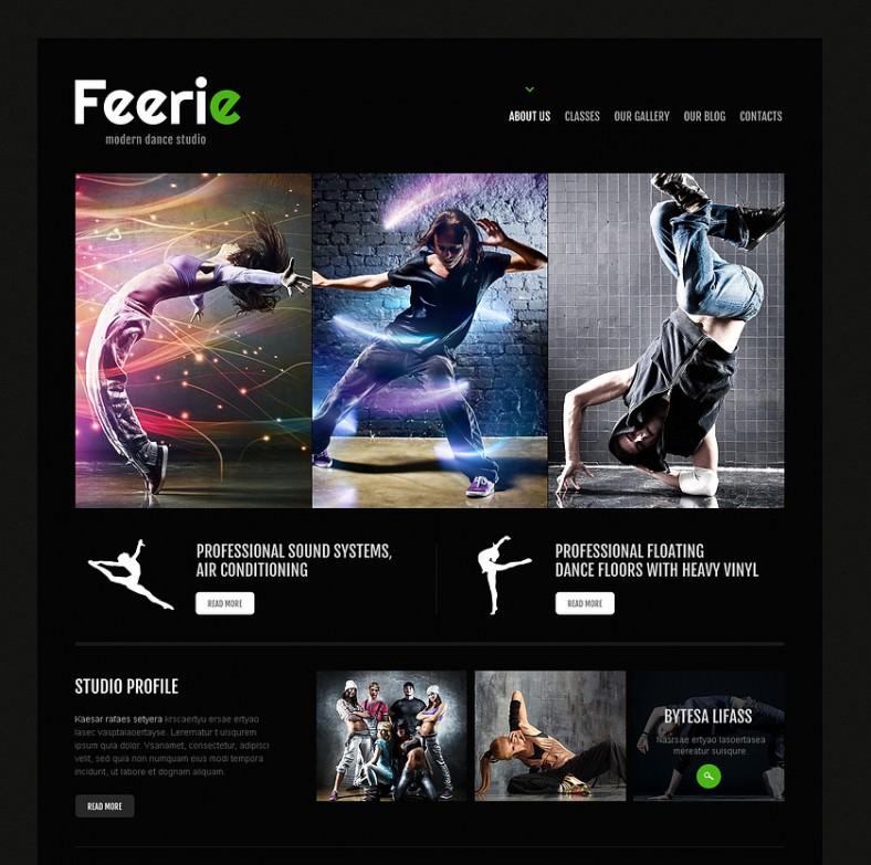 Dance Studio Responsive WordPress Theme 4 788x783