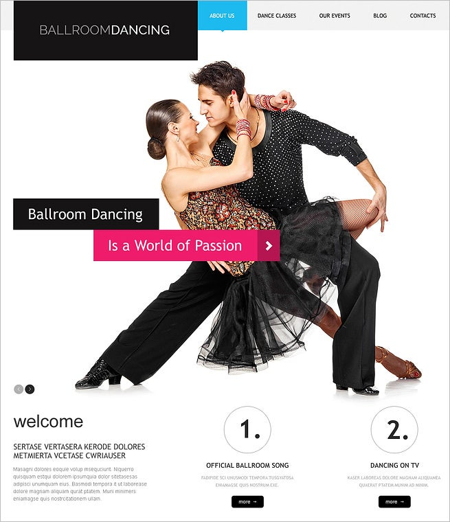 dance studio responsive wordpress theme 5