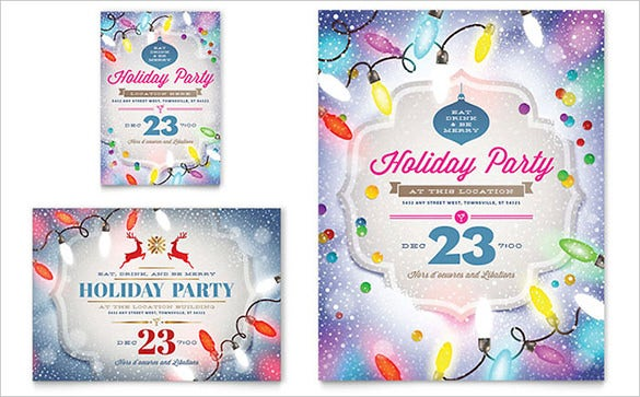 20 holiday party flyer templates psd designs free for Christmas brochure template