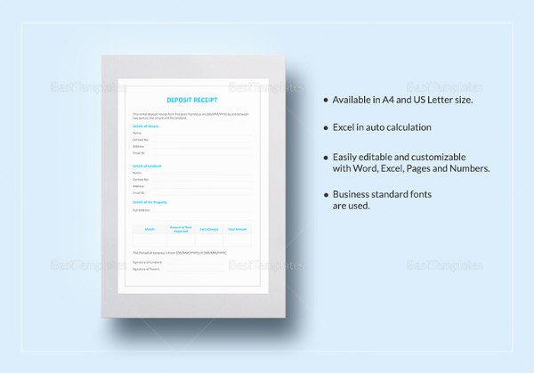 26 blank receipt templates doc excel pdf vector eps free