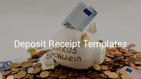 deposit receipt templates