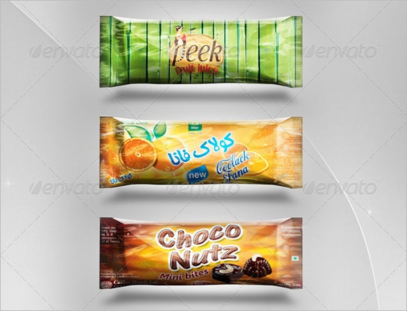 design preview of chocolate candy bar template