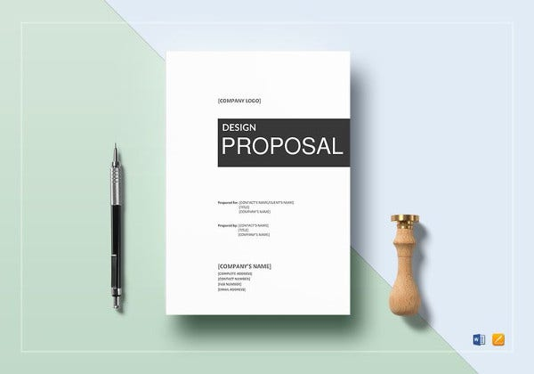Attractive Design Proposal Template In Google Docs