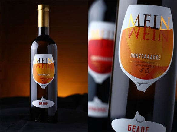 design wine label