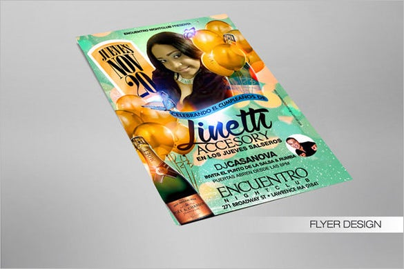 designed birthday party flyer template free