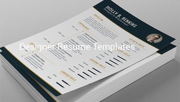 designerresumetemplates