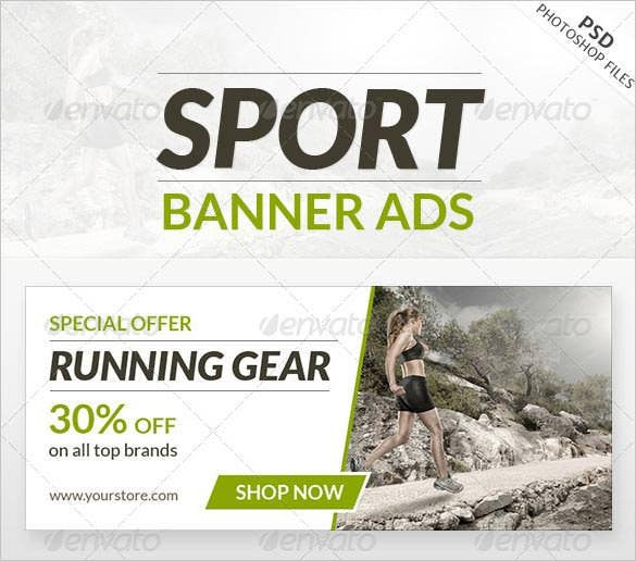 different size sport banner ads psd