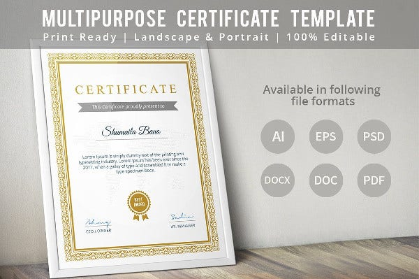 Diploma certificate template 30 free word pdf psd eps indesign illustrator format for Small booklet template
