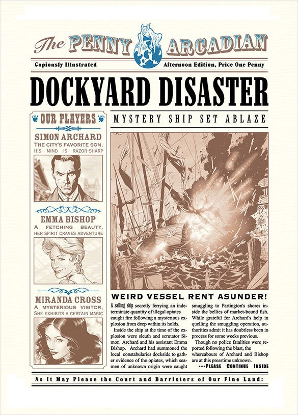 dockyard desaster headine in newspaper
