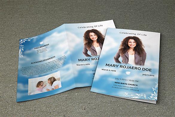 doe funeral program brochure template