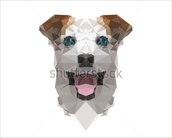 dog geometric illustration