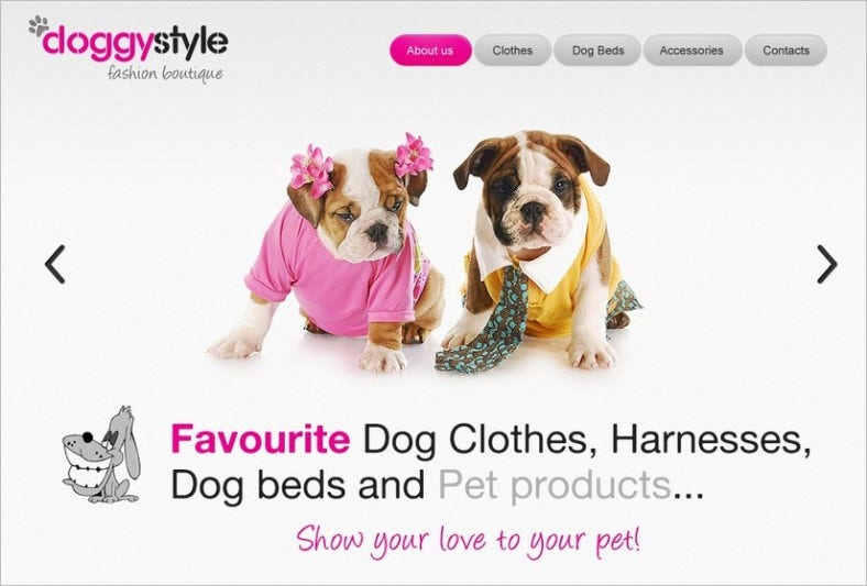 dog psd template 788x533
