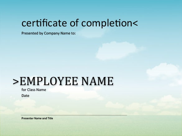 download certificate of completion template