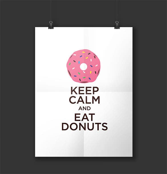 download keep calm poster illustration template