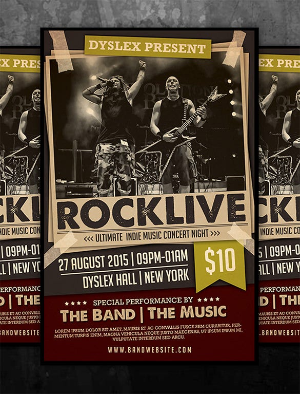 download rocklive music concert psd template