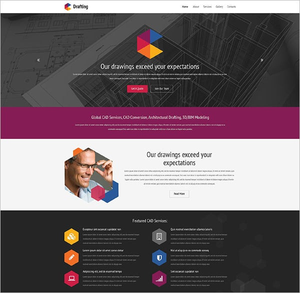 drafting room website template