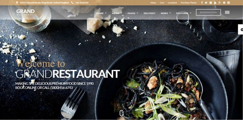 Drag & Drop Wp Restaurant Cafe Theme