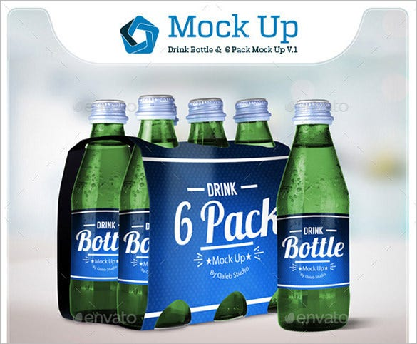 drink bottle psd mockup template 4