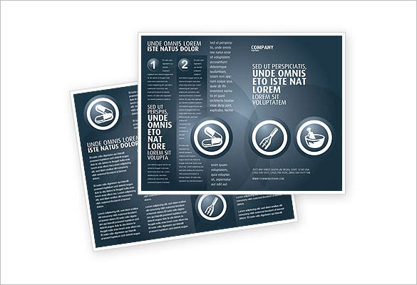 drug store brochure template