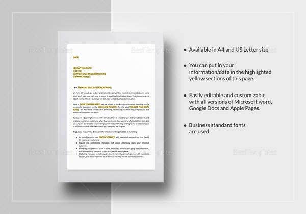 easy to edit product marketing proposal template