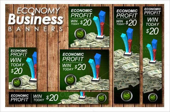 econamy business banners ads templates download