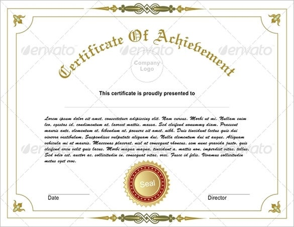 Elegant Editable Achievement Certificate Illustration Within Certificate Of Achievement Template